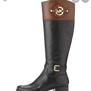 Micheal Kors two tone real leather Boots